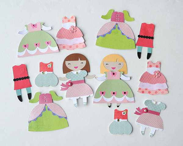 pretty paper dolls with the cricut