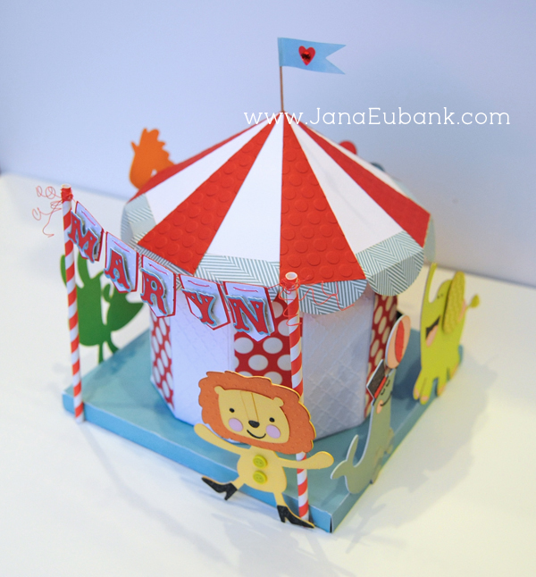how to make a circus tent from construction paper
