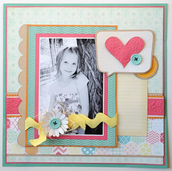 HeartBubbleScrapbookPage