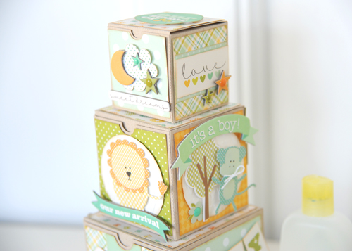 Jana Eubank Its A Boy Die Cut Blocks Photo 9