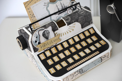 carta bella paper  typewriter gift box