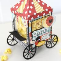 Echo Park Paper: Popcorn Cart Treat Box