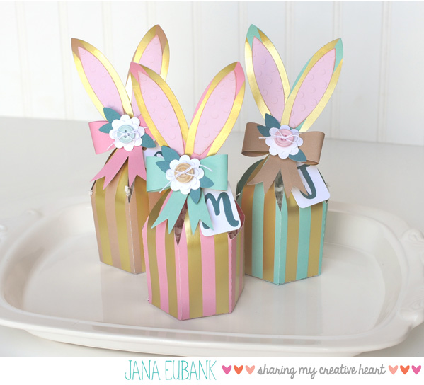 Jana Eubank Foil Stripes Bunny Box 1 600