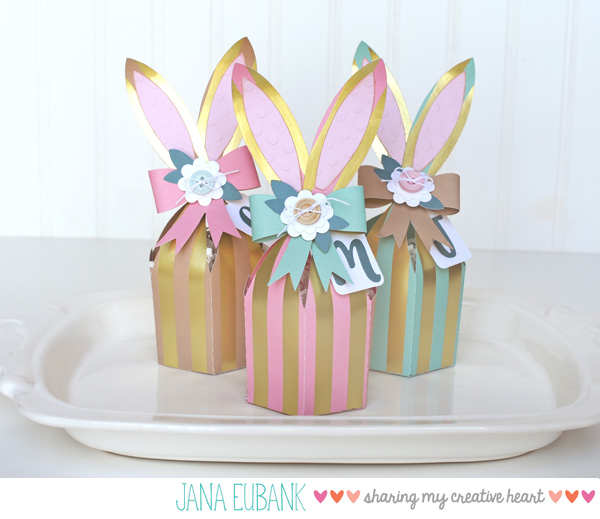 Jana Eubank Foil Stripes Bunny Box 2 600