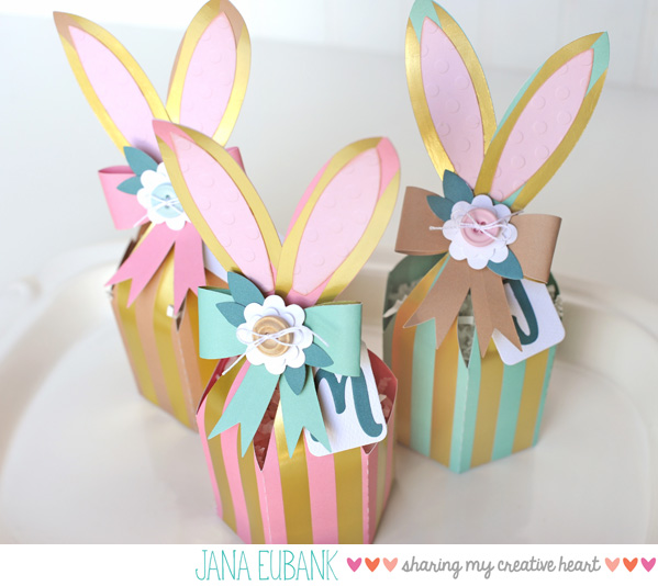 Jana Eubank Foil Stripes Bunny Box 3 600