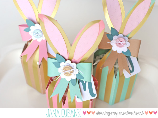 Jana Eubank Foil Stripes Bunny Box 4 600