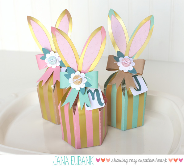 Jana Eubank Foil Stripes Bunny Box 5 600