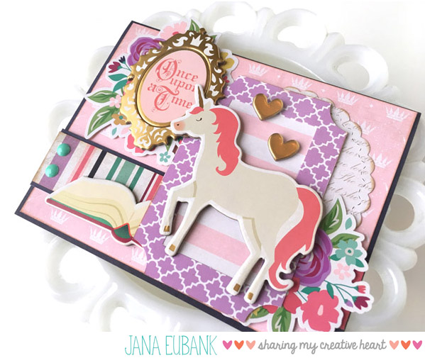 Jana Eubank Once Upon a Princess Unicorn Card 2 600