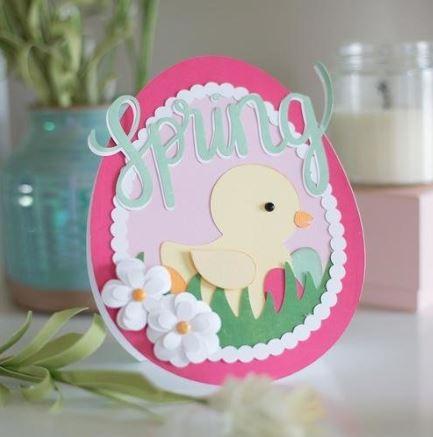 Jana Eubank Silhouette Spring Card