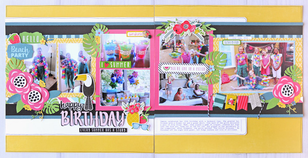 Jana Eubank Summer Fun Happy Birthday Layout 1 600