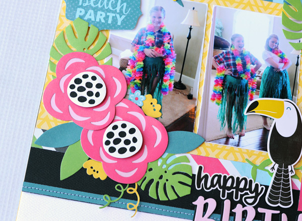 Jana Eubank Summer Fun Happy Birthday Layout 2 600