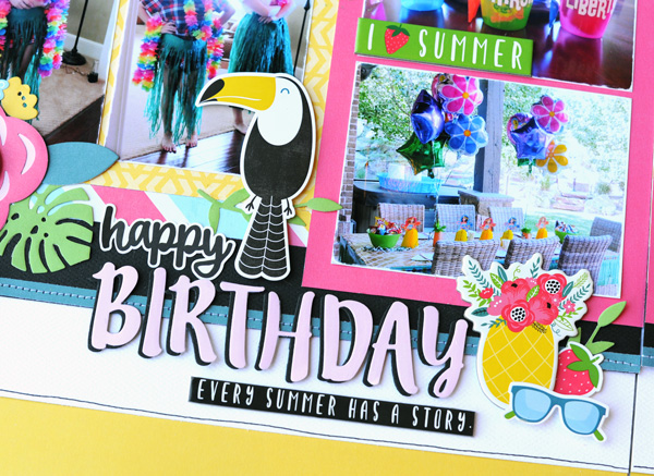 Jana Eubank Summer Fun Happy Birthday Layout 3 600