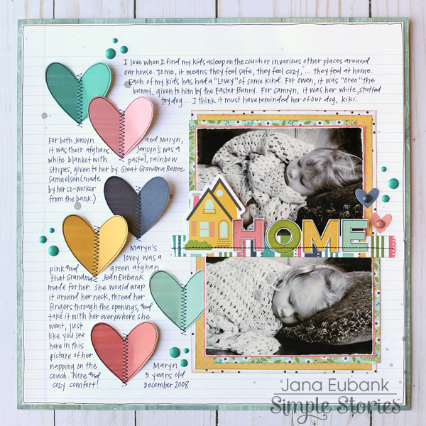 Jana Eubank Simple Stories Domestic Bliss Home Layout 1 600