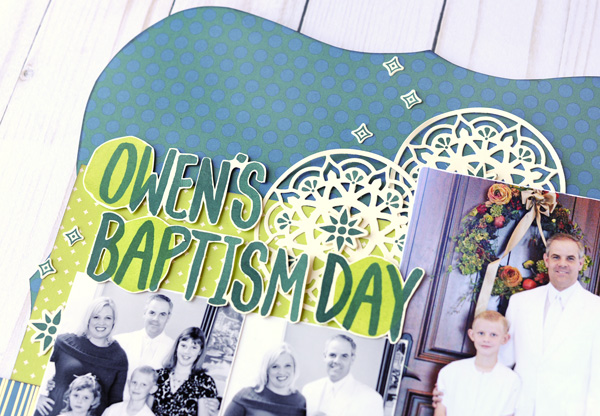 Jana Eubank Stampin Up Eastern Palace Owen's Baptism Layout 2