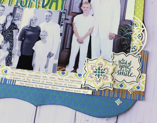 Jana Eubank Stampin Up Eastern Palace Owen's Baptism Layout 3