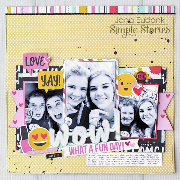 Jana Eubank Simple Stories Emoji Love WOW Layout 1 600