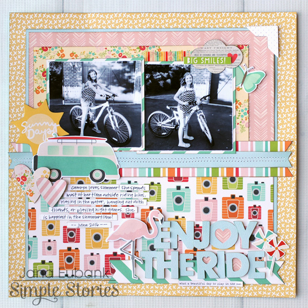 Jana Eubank Simple Stories Summer Days Enjoy the Ride Layout 1 600