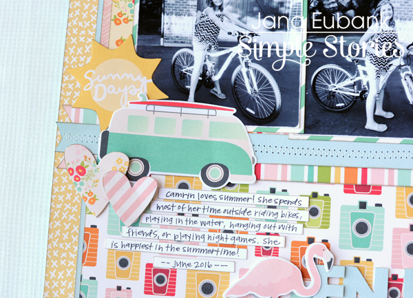 Jana Eubank Simple Stories Summer Days Enjoy the Ride Layout 3 600