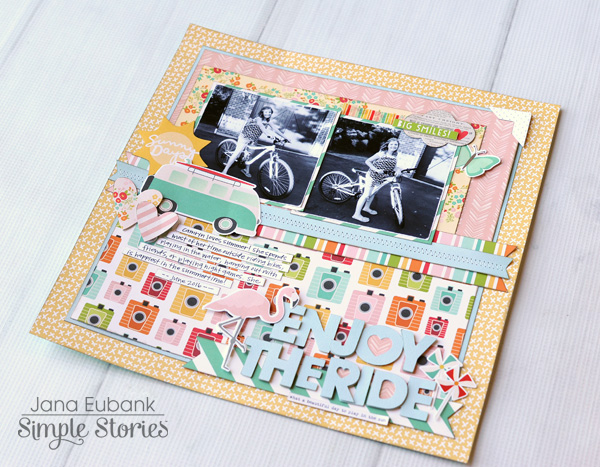Jana Eubank Simple Stories Summer Days Enjoy the Ride Layout 5 600