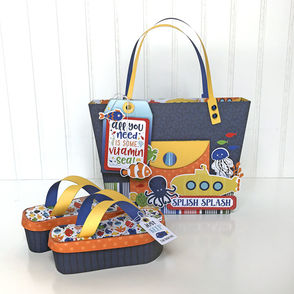 Jana Eubank Under the Sea Beach Tote Flip Flops 1 600