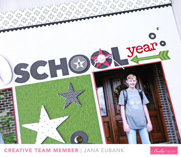 Jana Eubank Bella Blvd New School Year Scrapbook Page 3 600