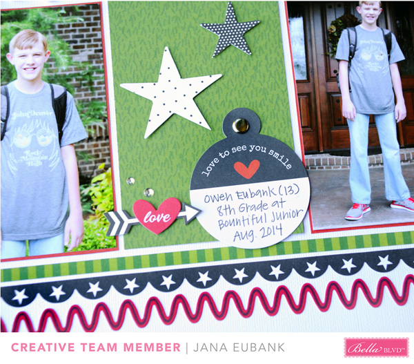 Jana Eubank Bella Blvd New School Year Scrapbook Page 4 600
