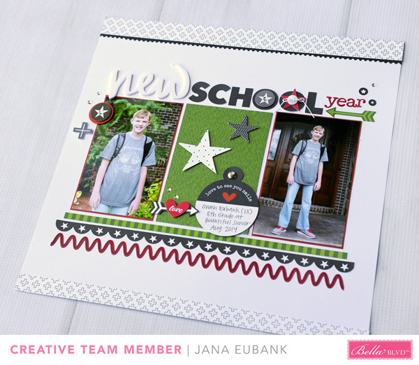 Jana Eubank Bella Blvd New School Year Scrapbook Page 5 600