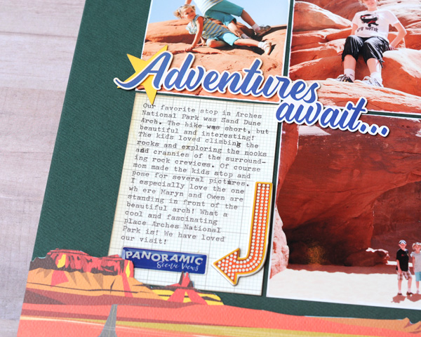 Jana Eubank Carta Bella Are We There Yet Adventures Await Scrapbook Page 3 600