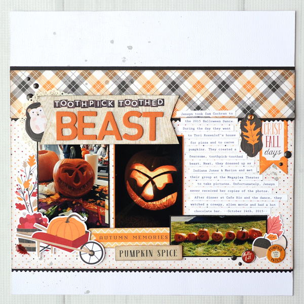 Jana Eubank Carta Bella Hello Fall Toothpick Beast Scrapbook 1 600