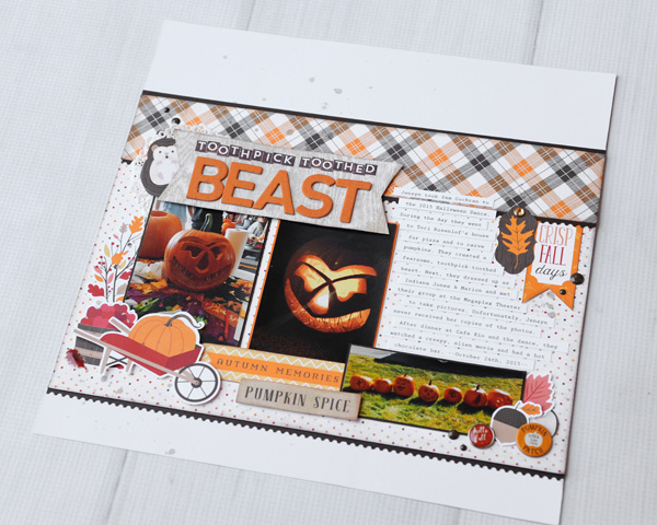 Jana Eubank Carta Bella Hello Fall Toothpick Beast Scrapbook 6 600