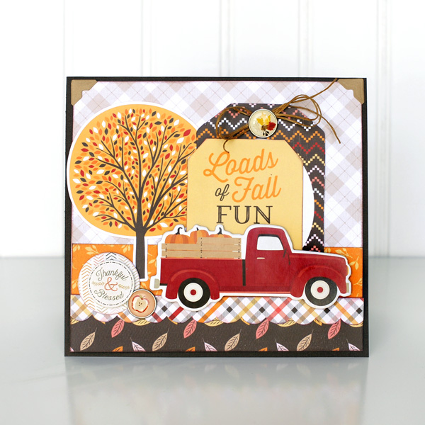 Jana Eubank Carta Bella Hello Fall Truck Card NEW 1 600