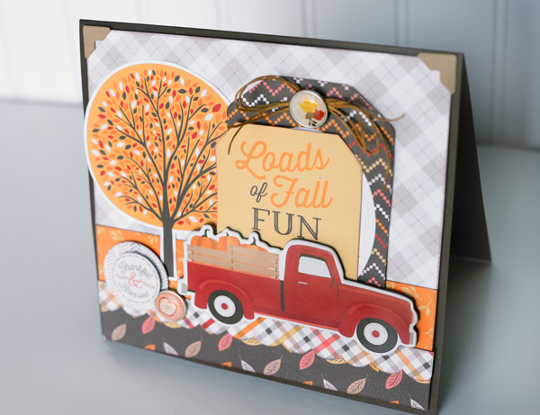 Jana Eubank Carta Bella Hello Fall Truck Card NEW 2 600
