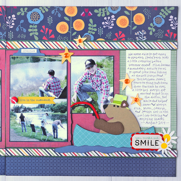 Jana Eubank Catch Release Scrapbook Layout 3 600