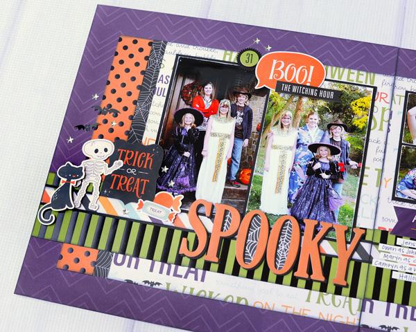 Jana Eubank Echo Park Paper Halloween Town Spooky Two Page Layout 2 600