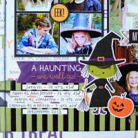 Two-Page Scrapbook Page: Spooky