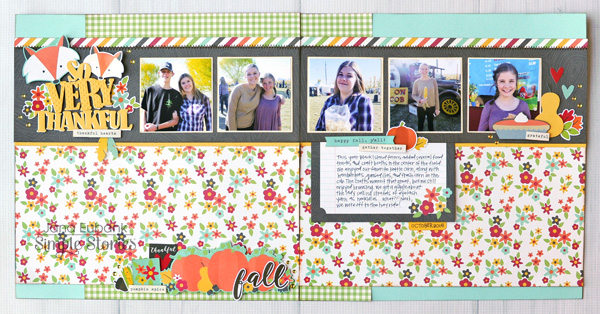 Jana Eubank PageMaps Simple Stories Happy Harvest So Very Thankful Scrapbook Page 1 600