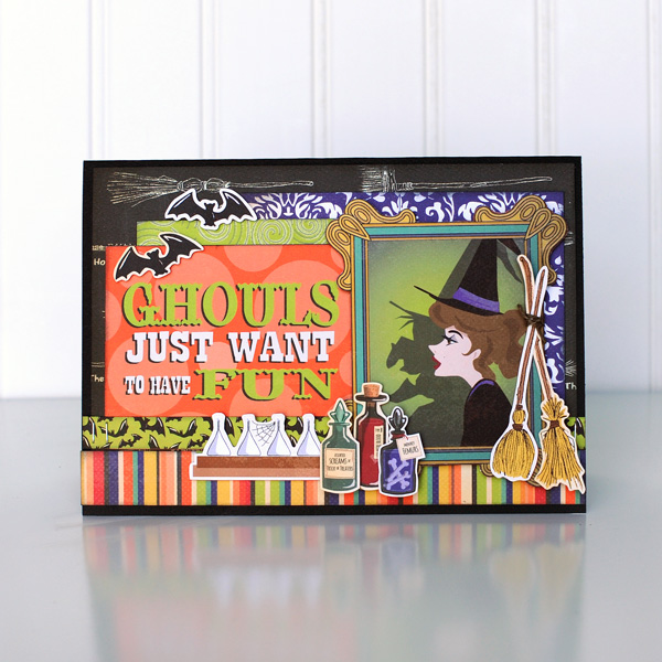 Jana Eubank Carta Bella Haunted House Ghouls Fun Card 1 600