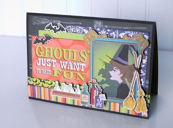 Jana Eubank Carta Bella Haunted House Ghouls Fun Card 2 600