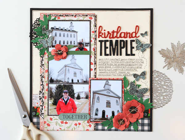 Jana Eubank Carta Bella Our Family Kirtland Temple Scrapbook Page 1 600
