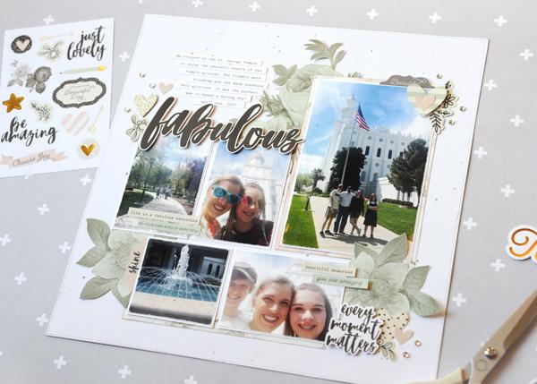 Jana Eubank Simple Stories Beautiful Fabulous Layout 6 600