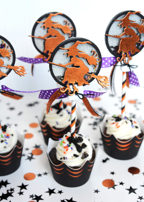 Jana Eubank Spellbinders Halloween Cupcakes 6 600