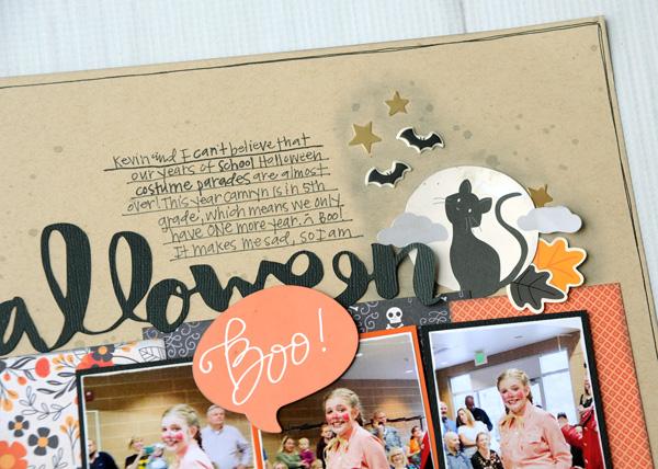 Jana Eubank Pebbles Midnight Haunting Halloween Scrapbook Page 2 600