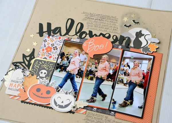 Jana Eubank Pebbles Midnight Haunting Halloween Scrapbook Page 4 600