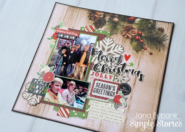 Jana Eubank Simple Stories Very Merry Scrooge Layout 6 600
