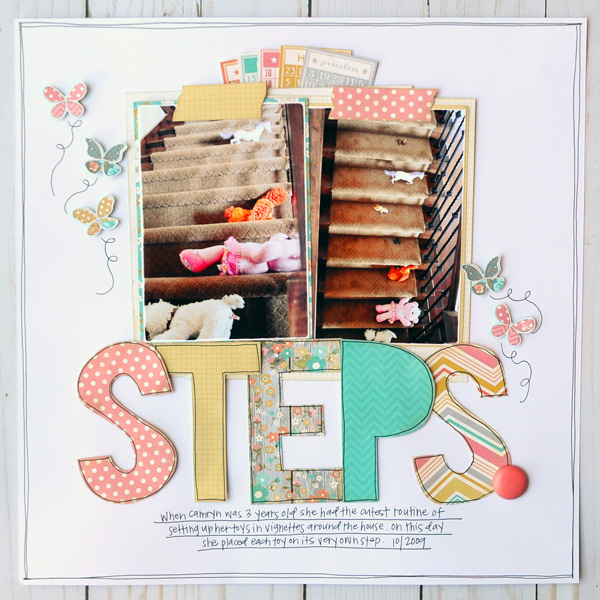 Jana Eubank Simple Stories Vintage Bliss Steps 1 600