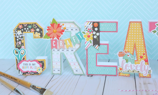 Jana Eubank Echo Park Paper Crafting CREATE Letters 2 600