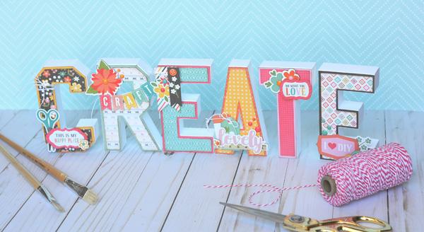 Jana Eubank Echo Park Paper Crafting CREATE Letters 4 600