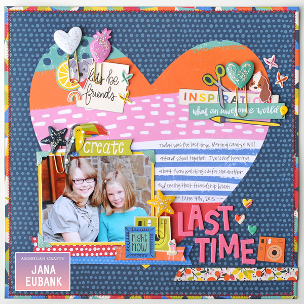 Jana-Eubank-American-Crafts-Shimelle-Box of Crayons-Last-Time-Scrapbook-Page-1-600