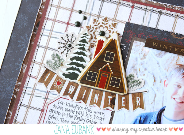 Jana Eubank Carta Bella Cabin Fever I Love Winter Scrapbook Page 2 600