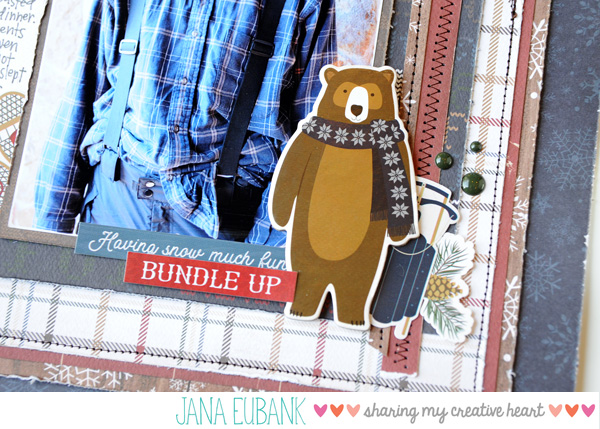 Jana Eubank Carta Bella Cabin Fever I Love Winter Scrapbook Page 3 600
